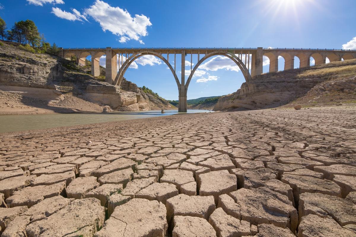 Entrepenas reservoir, in Guadalajara, Castilla, Spain