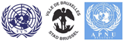 Logos of the VVN, APNU and the City of Brussels