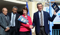 Catherine Ashton, High Representative of the European Union for Foreign Affairs and Security Policy, with Filippo Grandi, Commissioner-General of UNRWA
