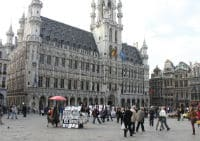 UN Flag at Grand-Place in Brussels