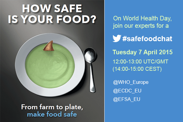 Twitter chat: ask experts about food safety on World Health Day 2015