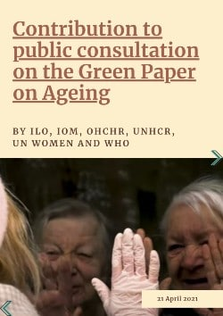 Publication of joint public consultation on the Green Paper on Ageing